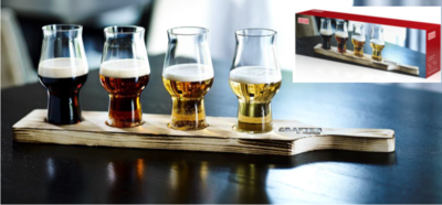 Degustační set,4 sklenice Craft Master s prkénkem - 1