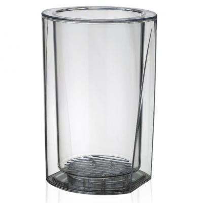 Plastový chladič na víno Solo transparentní - 1