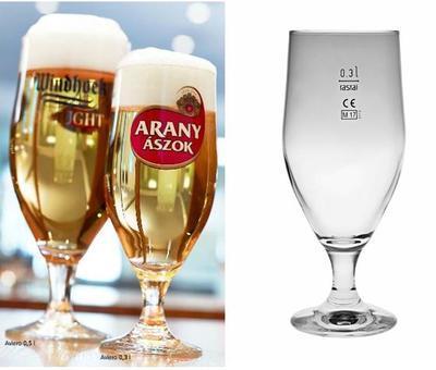 Pivní sklenice na stopce Aviero 0,3 cejch - 1