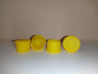 Silikonové uzávěry na lahve žluté - 1