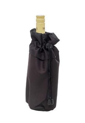 Chladící obal na lahev - stahovací černý - 1