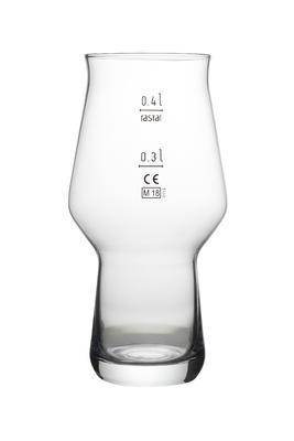Pivní sklen. Craft Master 0,4 l cejch 0,4  a 0,3 l - 1