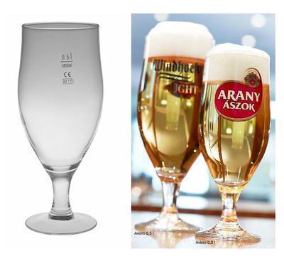 Pivní sklenice na stopce Aviero 0,5 cejch - 1